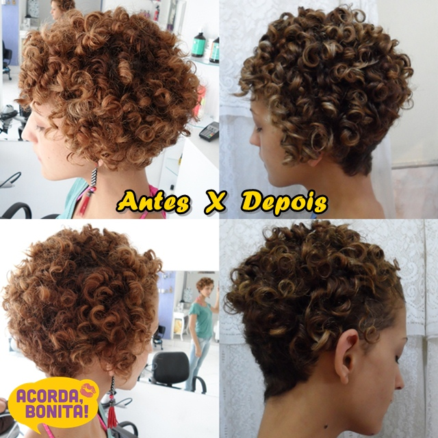 corte de cabelo cacheado Karina Viega com Kaka Domingues